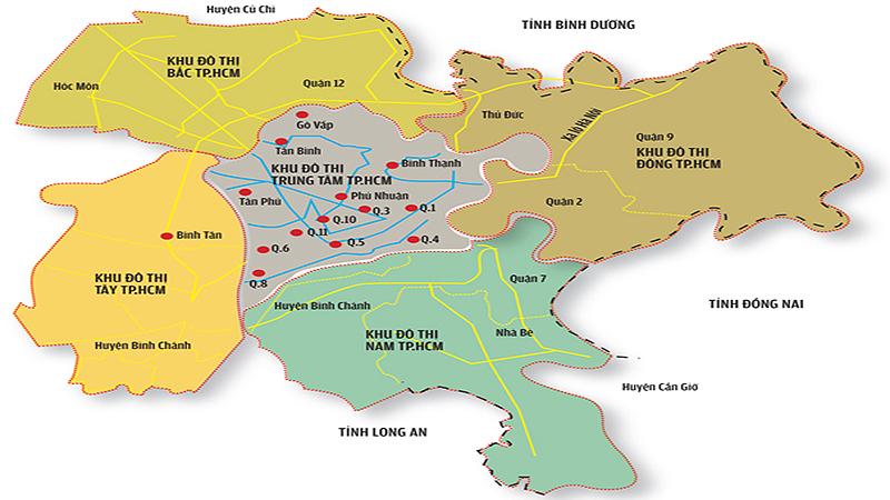 Bản đồ quy hoạch đô thị vệ tinh TP.HCM