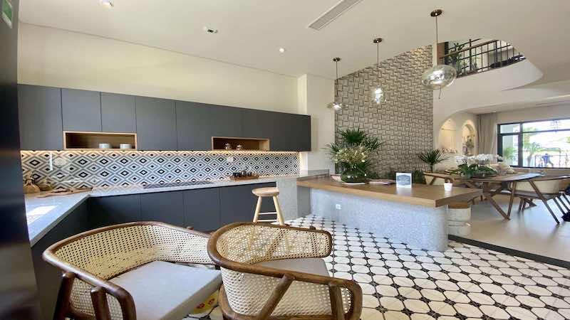 nhà bếp nhà mẫu Aqua City