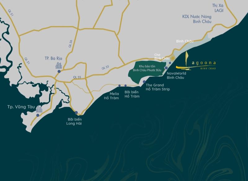 Vị trí vàng của dự án khu biệt thự nghỉ dưỡng Wyndham Lagoona Binh Chau