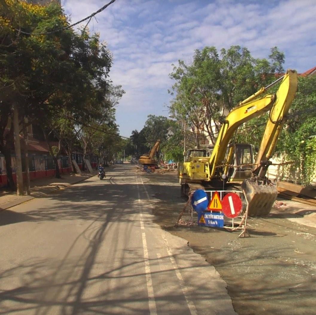 Thực tế cải tạo trên đường Nguyễn Văn Hưởng Tháng 7/2021