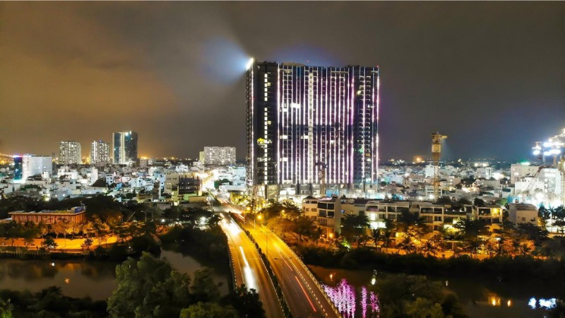 Chi 3 triệu USD lắp đèn led cho tòa tháp S1 Sunshine City Sài Gòn