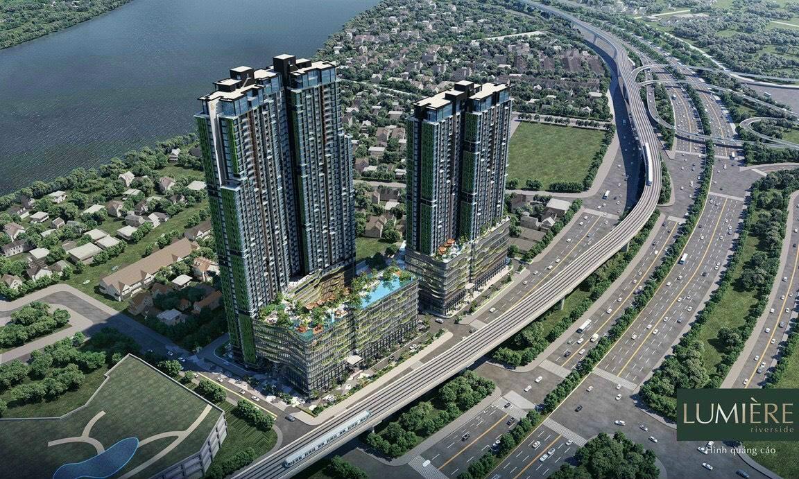 Phối cảnh dự án Lumiere Riverside mặt tiền xa lộ Hà Nội