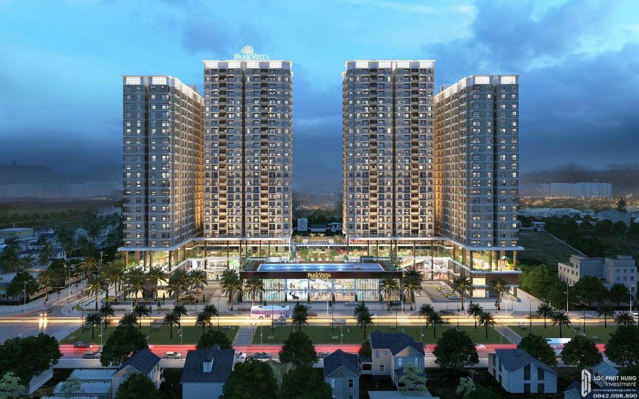 Phối cảnh tổng thể dự án căn hộ chung cư Park Vista Nhà Bè Đường Nguyễn Hữu Thọ chủ đầu tư Đông Mê Kông