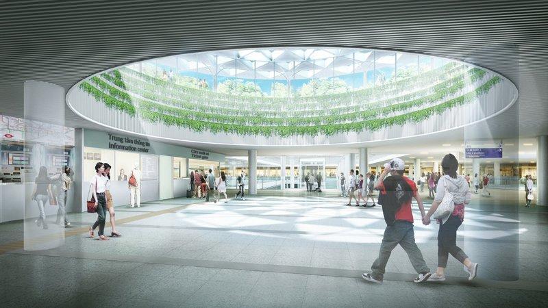 Phối cảnh nhà ga trung tâm Bến Thành tuyến metro số 1