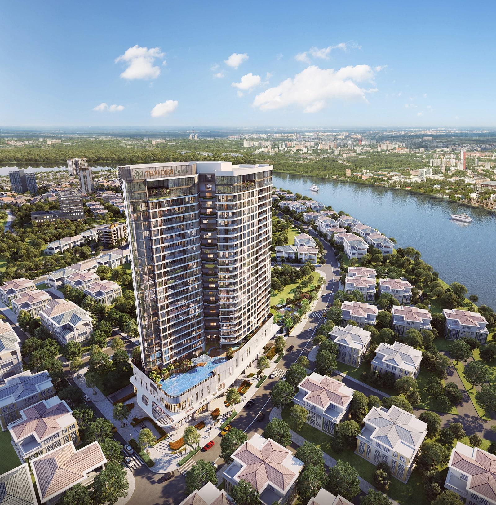 Tổng quan, giá bán, tiến độ dự án căn hộ Thảo Điền Green