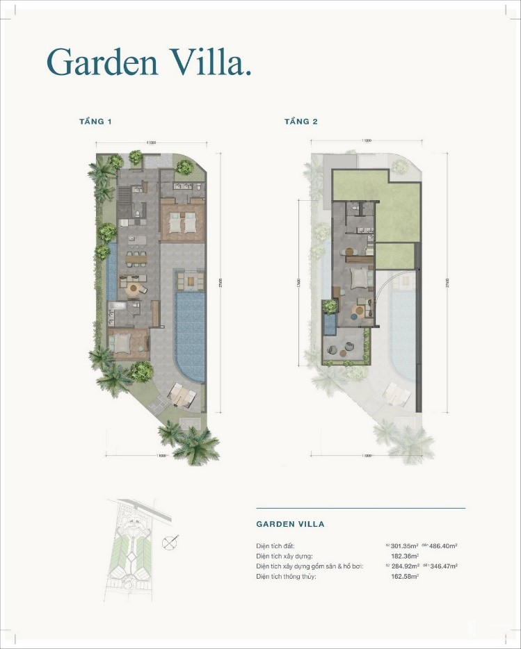 thiet ke loai hinh Garden Villa cua Ixora Ho Tram