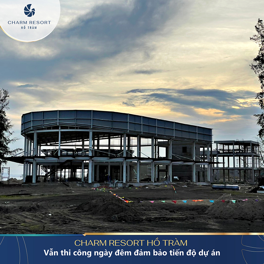 Tiến độ Charm Resort Ho Tram Tháng 10/2021