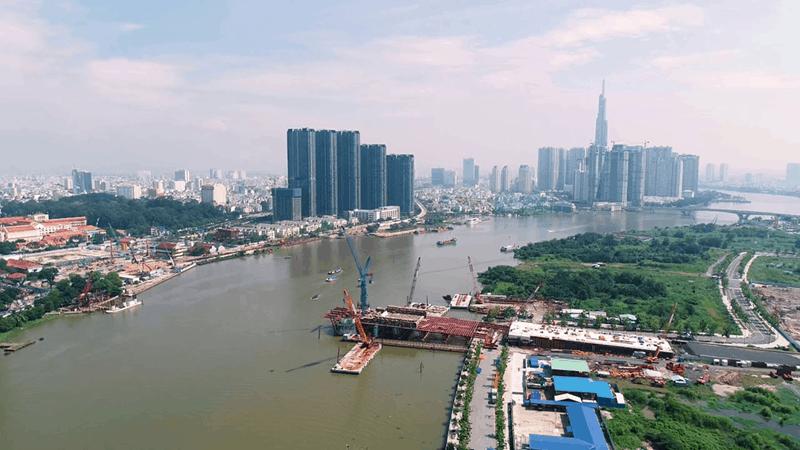 Cầu Thủ Thiêm 2 đang được nhà đầu tư tích cực đẩy nhanh tiến độ để hoàn thiện vào 30/4/2020.